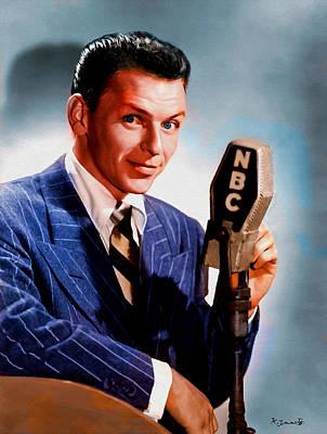 Digital Art - Frank Sinatra by Kai Saarto