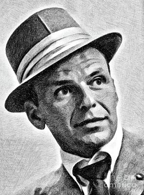 Frank Sinatra Drawing - Frank Sinatra, Legend By Js by John Springfield