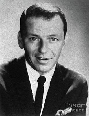 Frank Sinatra Painting - Frank Sinatra, Legend by Sarah Kirk