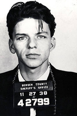 Celebrities Royalty-Free and Rights-Managed Images - Frank Sinatra Mug Shot Vertical by Tony Rubino