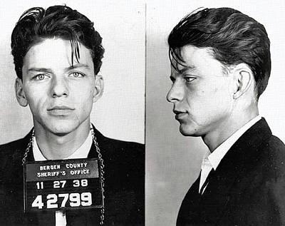 Frank Sinatra Mixed Media - Frank Sinatra Mugshot by Dan Sproul