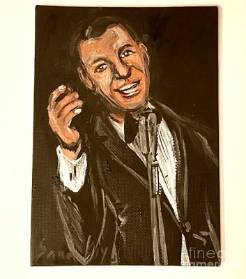 Painting - Frank Sinatra by Oksana Semenchenko