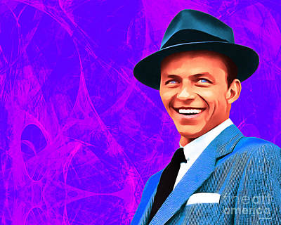 Photograph - Frank Sinatra Old Blue Eyes 20160922hor V3 by Wingsdomain Art and Photography