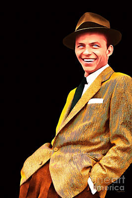 Frank Sinatra Old Blue Eyes 20160922v2 Art Print by Wingsdomain Art and Photography