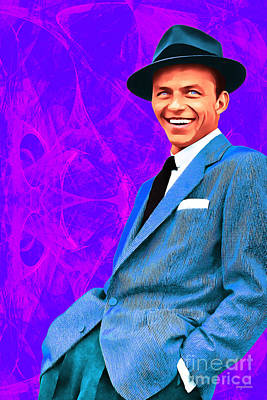 Frank Sinatra Old Blue Eyes 20160922v3 Art Print by Wingsdomain Art and Photography