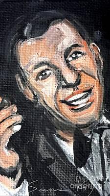 Painting - Frank Sinatra Painting by Oksana Semenchenko