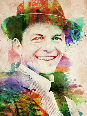 Digital Art - Frank Sinatra Portrait by Mihaela Pater