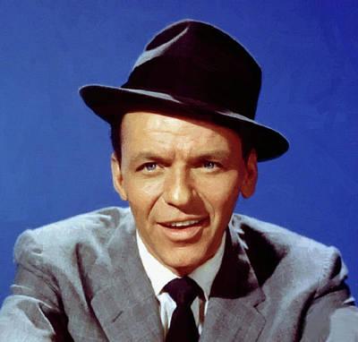 Digital Art - Frank Sinatra Poster by Frank Sinatra