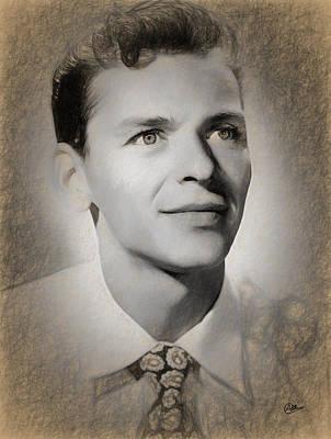 Frank Sinatra Drawing - Frank Sinatra Draw by Quim Abella