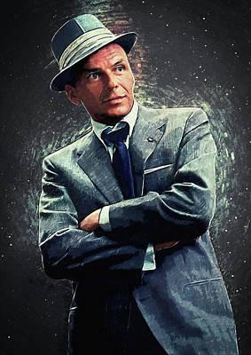 Digital Art - Frank Sinatra by Taylan Apukovska