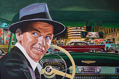 Painting - Frank Sinatra - The Capitol Years by Jo King