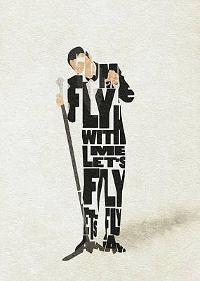 Painting - Frank Sinatra Typography Art by Inspirowl Design