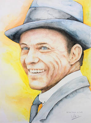 Painting - Frank Sinatra by Victor Minca