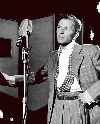 Frank Sinatra William Gottlieb Photo Liederkranz Hall New York City 1947-2015 Art Print by David Lee Guss