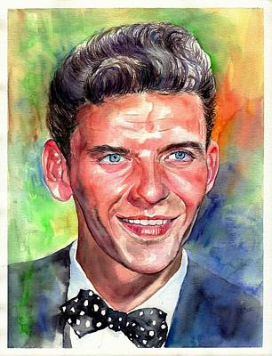 Frank Sinatra Young Watercolor Original