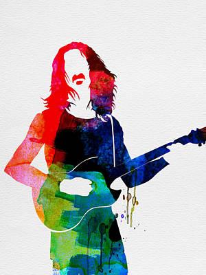 Concert Digital Art - Frank Watercolor by Naxart Studio