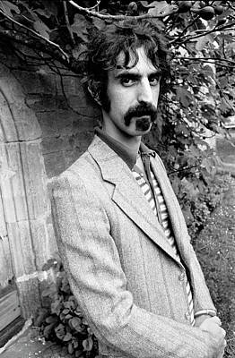 Black And White Photograph - Frank Zappa 1970 by Chris Walter