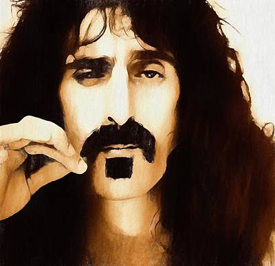 Music Paintings - Frank Zappa by Dan Sproul