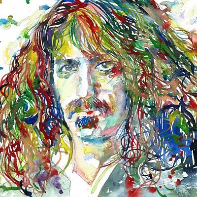 Painting - Frank Zappa by Fabrizio Cassetta