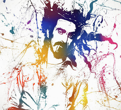 Inventions Painting - Frank Zappa Splatter by Dan Sproul