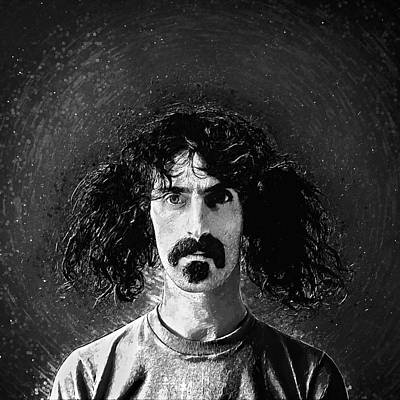 Cool Painting - Frank Zappa by Taylan Apukovska