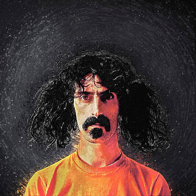 Captain Beefheart Digital Art - Frank Zappa by Taylan Apukovska