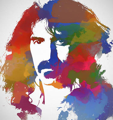 Frank Zappa Watercolor Art Print