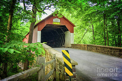 Photograph - Frankenfield Covered Bridge In Summer by Debra Fedchin