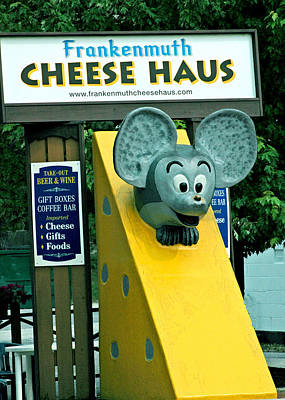 Cheese Photograph - Frankenmuth Cheese Haus Mouse  by LeeAnn McLaneGoetz McLaneGoetzStudioLLCcom
