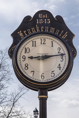 Michigan Frankenmuth Photograph - Frankenmuth Clock by John McGraw