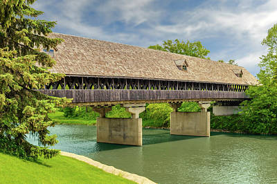 Photograph - Frankenmuth Covered Bridge  -  Coveredbridge171169 by Frank J Benz