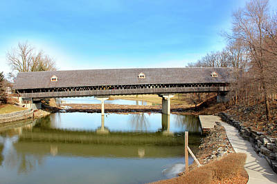 Michigan Frankenmuth Mixed Media - Frankenmuth Covered Bridge by Design Turnpike