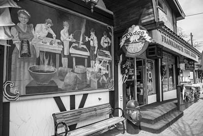 Michigan Frankenmuth Photograph - Frankenmuth Fudge Black And White  by John McGraw