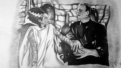 Frankenstein And His Bride Art Print