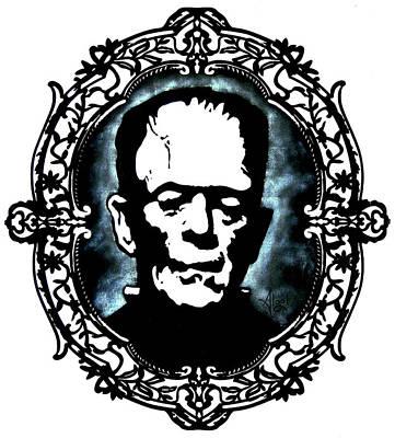 Painting - Frankenstein by Bard Algol