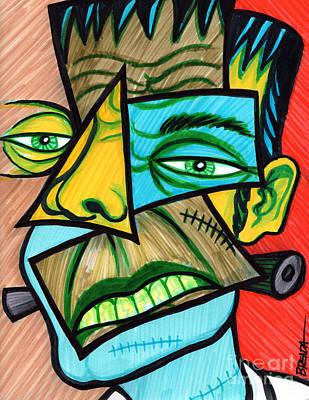 Frankenstein Drawing - Frankenstein by Brenda Kato