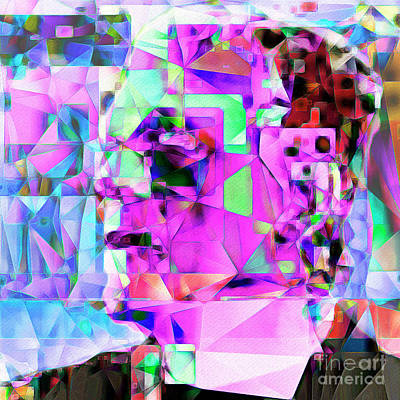 Photograph - Frankenstein In Abstract Cubism 20170407 Square by Wingsdomain Art and Photography