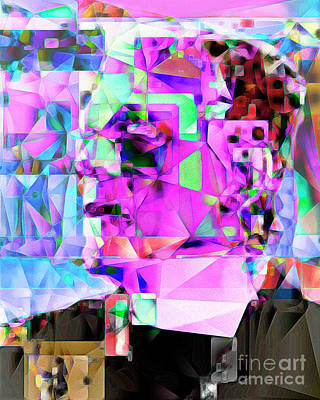 Horror Movies Photograph - Frankenstein In Abstract Cubism 20170407 by Wingsdomain Art and Photography