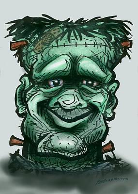 Frankenstein Greeting Card - Frankenstein by Kevin Middleton