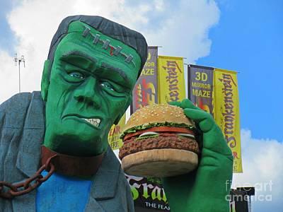 Frankenstein Loves Hamburgers Original by John Malone