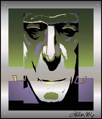 Digital Art - Frankenstein Monster by Larry Talley