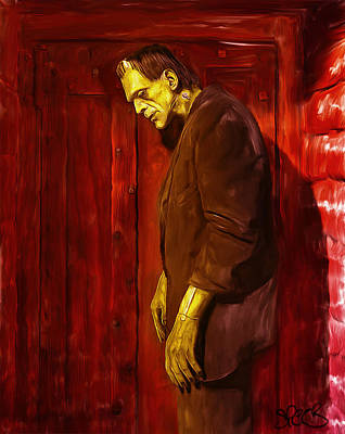 Frankenstein Mixed Media - Frankenstein Monster by Mark Spears