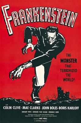 Blockbuster Photograph - Frankenstein Movie Lobby Promotion 1931 by Daniel Hagerman