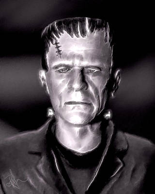 Digital Art - Frankenstein by Pennie McCracken