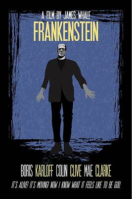 Painting - Frankenstein Poster Print Movie Quote - It's Alive, It's Moving by Beautify My Walls