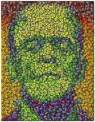 Have A Nice Day Digital Art - Frankenstein Smiley Face Mosaic by Paul Van Scott