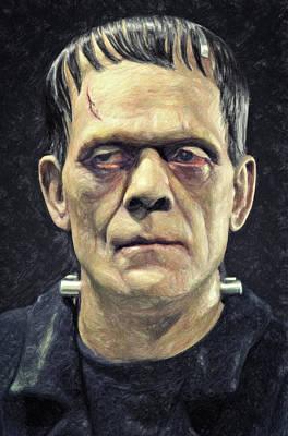 Poster Mixed Media - Frankenstein by Taylan Apukovska