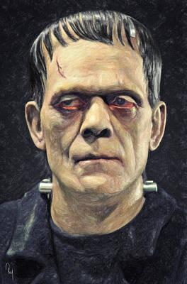 Prometheus Painting - Frankenstein by Taylan Apukovska