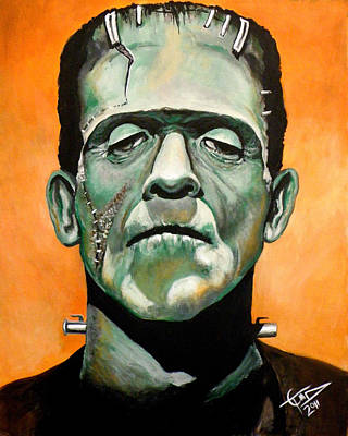 Tom Carlton Painting - Frankenstein by Tom Carlton