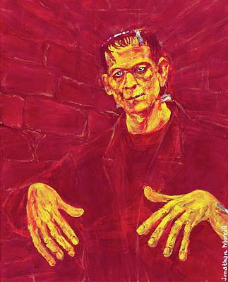 Painting - Frankenstein's Monster 1931 by Jonathan Morrill